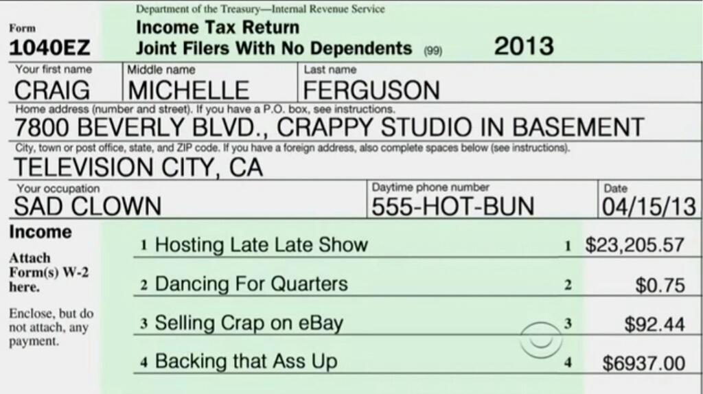 how to write a name on tax return